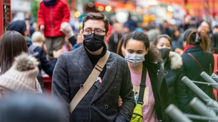 people wear medical masks in public